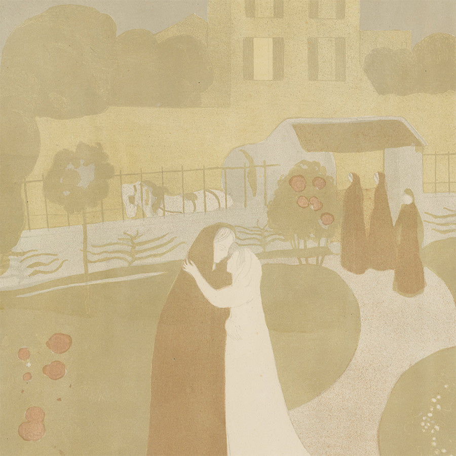 Maurice Denis - La Visitation a la Villa Montrouge - Ambroise Vollard - Album Peintres-Graveurs - color - detail