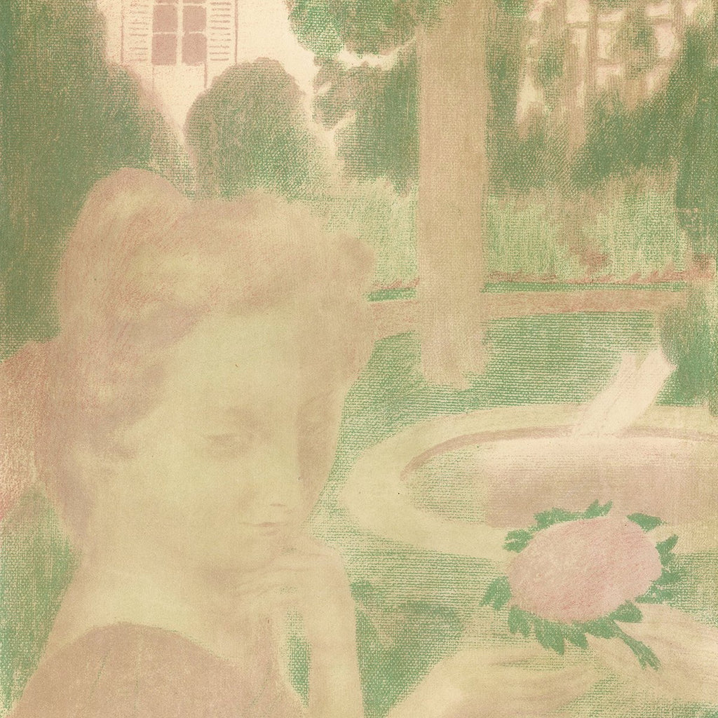 Maurice Denis - Amour - Le Bouquet Matinal Les Larmes - flower girl pink green