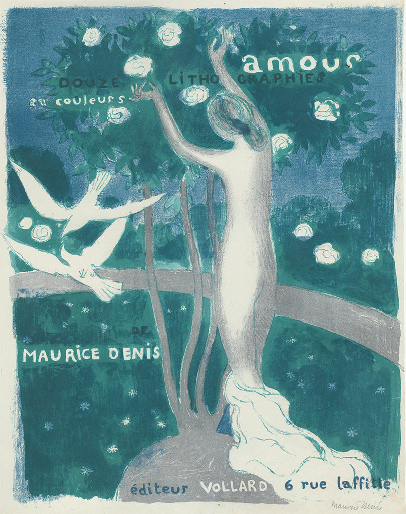 Maurice Denis - Amour - cover - couverture - douze lithographies en couleurs - Ambroise Vollard - original color lithograph