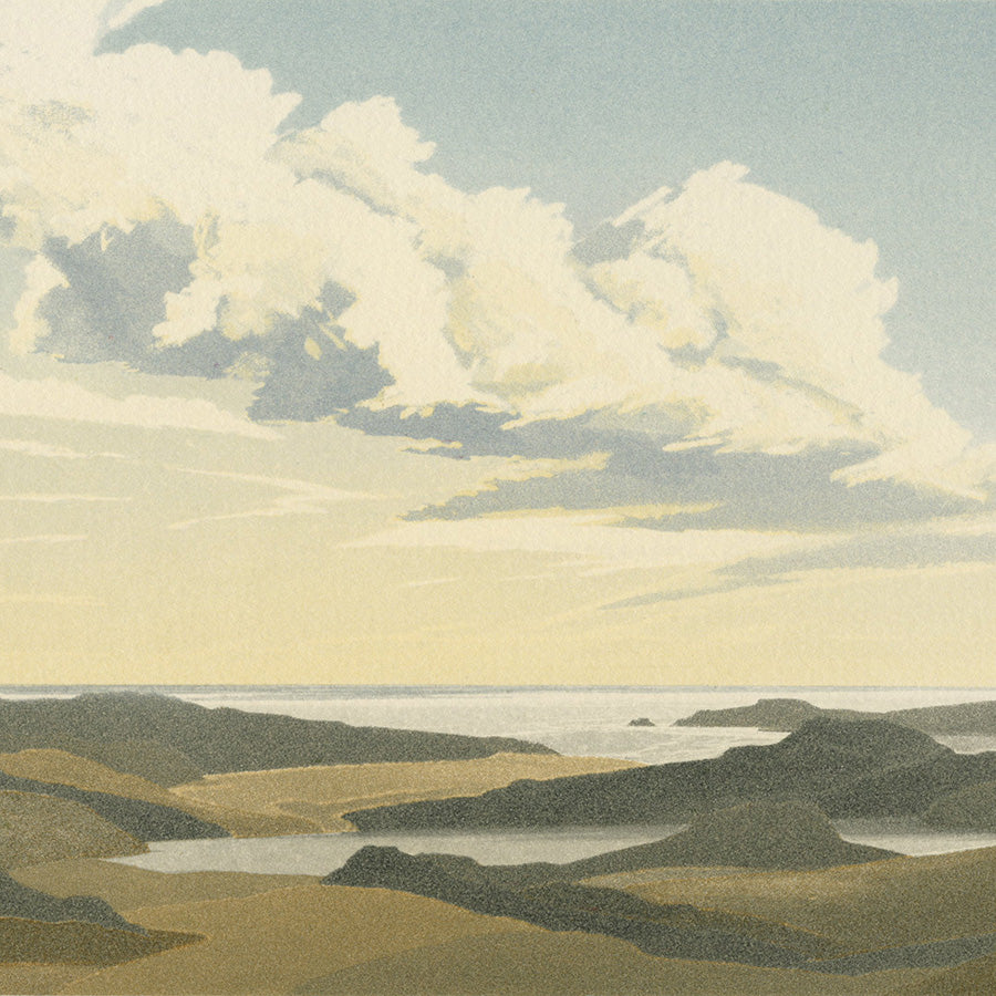 Michael Fairclough - Western Isle II - colo aquatint - detail