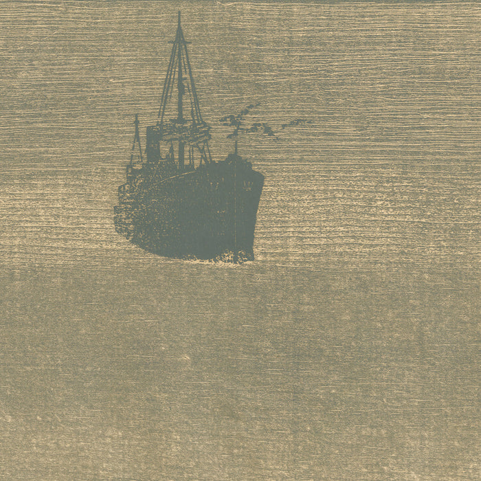 Paul Shaub - Passage - woodcut boats harbor