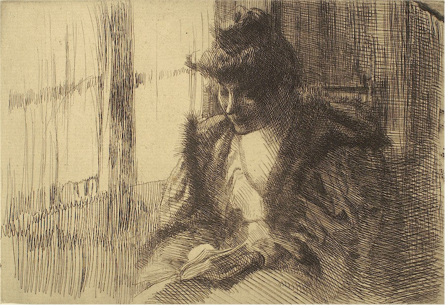 Albert Besnard - Paul Albert Besnard etching