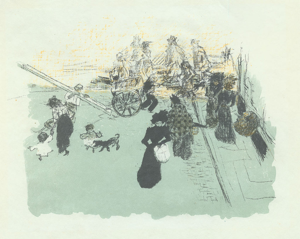 Pierre Bonnard - Coin de Rue - Color Lithograph - Quelques aspects de la vie de Paris - 1899
