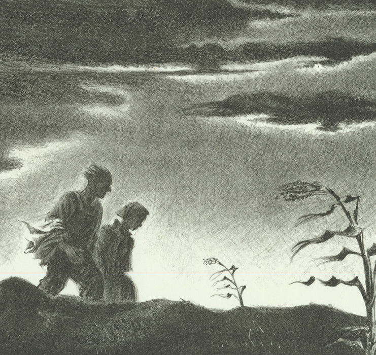 Lithograph - by SCHREIBER, Georges - titled: Twilight