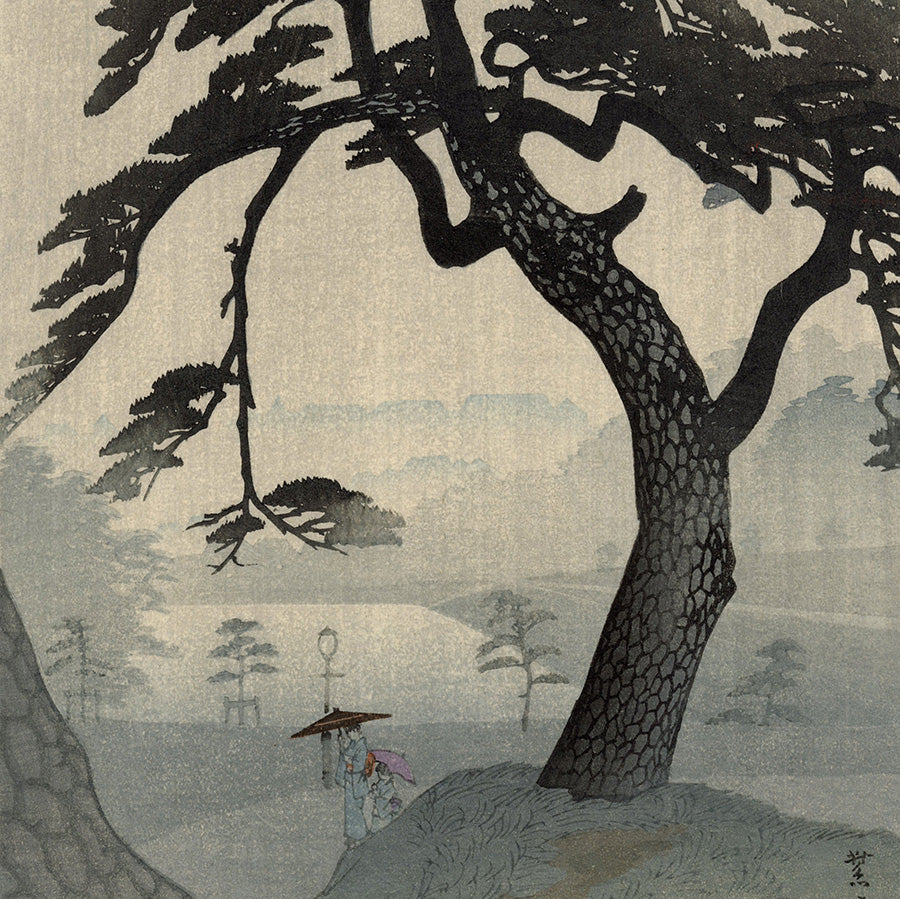 Shiro Kasamatsu - Kinokunisaka in the Rainy Season - Kinokunizaka - Watanabe - detail