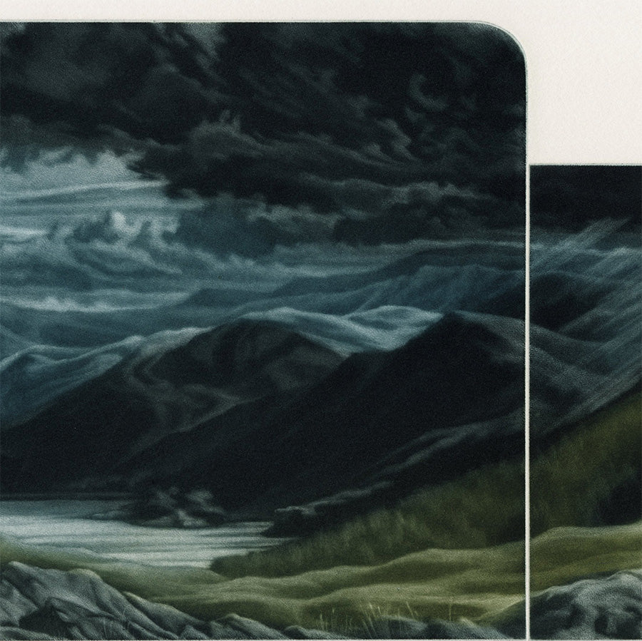 Susan Jameson - Afternoon - Storm Approach - Thirlmere - color mezzotint - detail1
