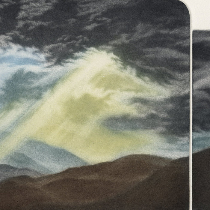 Susan Jameson - Winter Storm - break in the clouds - color mezzotint - detail