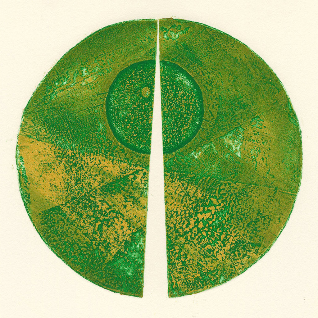 Terry Haass - Variations 1 - 1970 - Spielmann 282.1 - green geometric circle, aquatint etching