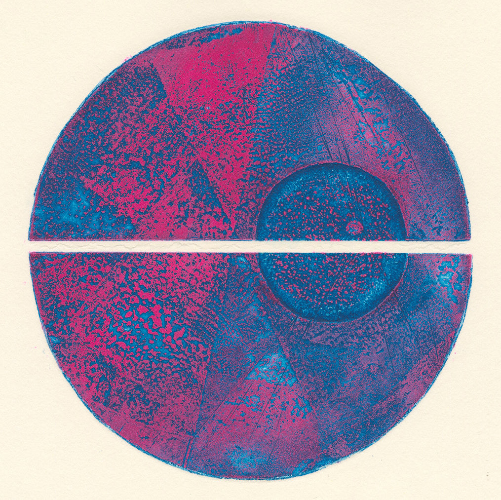 Terry Haass - Variations 2 - 1970 - Spielmann 282.2 - pink and blue split circle geometric