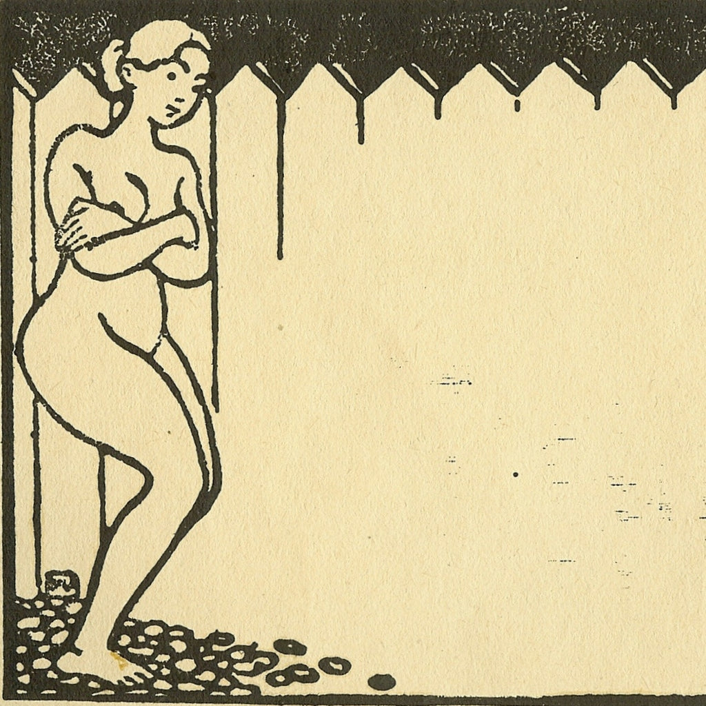 Nude Woman by a Palissade