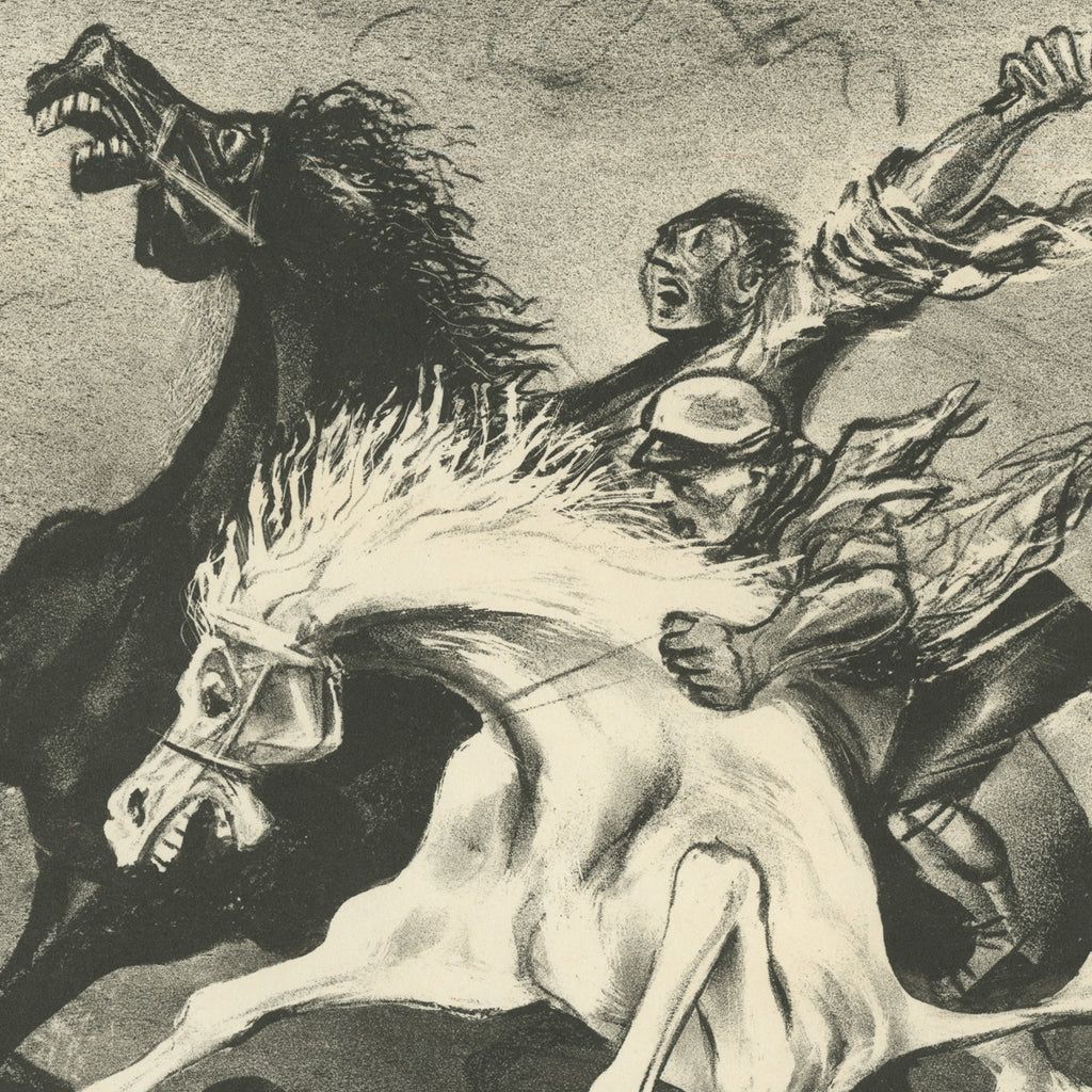 William Gropper - Horsemen - lithograph - 1935