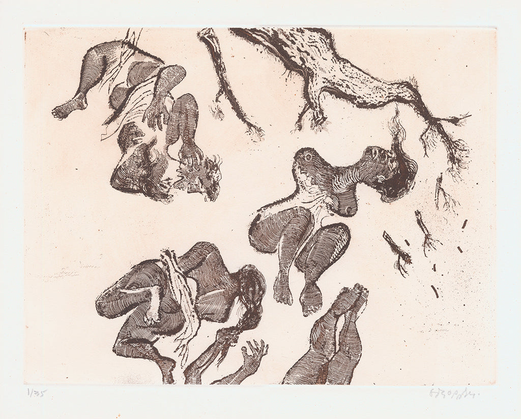 William Gropper - Uprooted - social commentary - etching