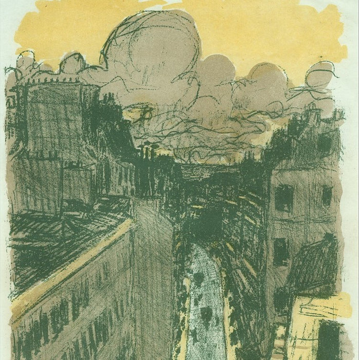 Color lithograph - by BONNARD, Pierre - titled: Street from Above