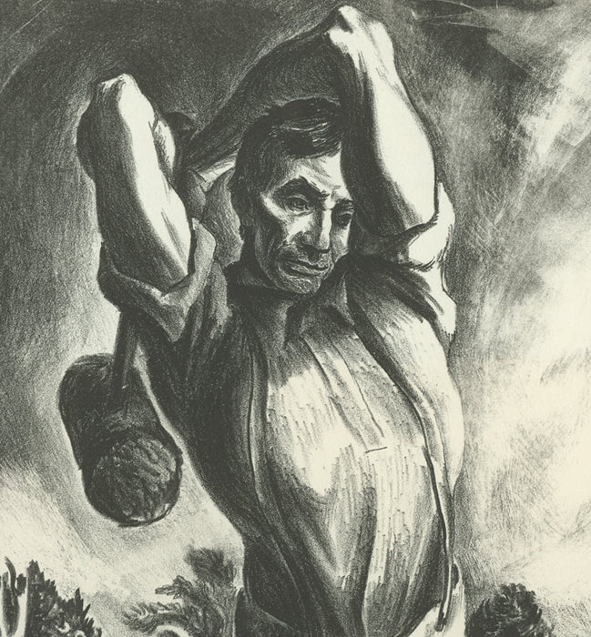 Lithograph - by DANIEL, Lewis C. - titled: Lincoln, an American Symbol