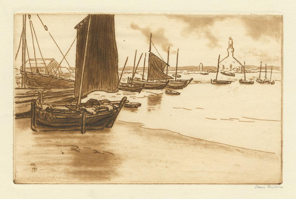 Henri Riviere - Boats on the Beach - main