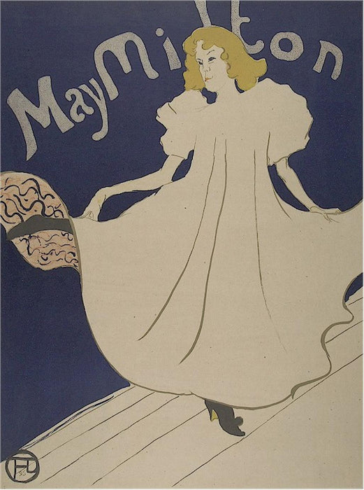 Color lithograph - by TOULOUSE-LAUTREC, Henri de - titled: May Milton