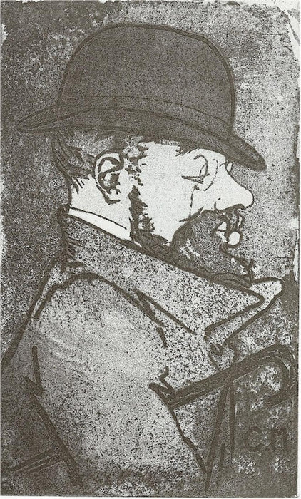 Etching and aquatint - by MAURIN, Charles - titled: Portrait de Toulouse-Lautrec