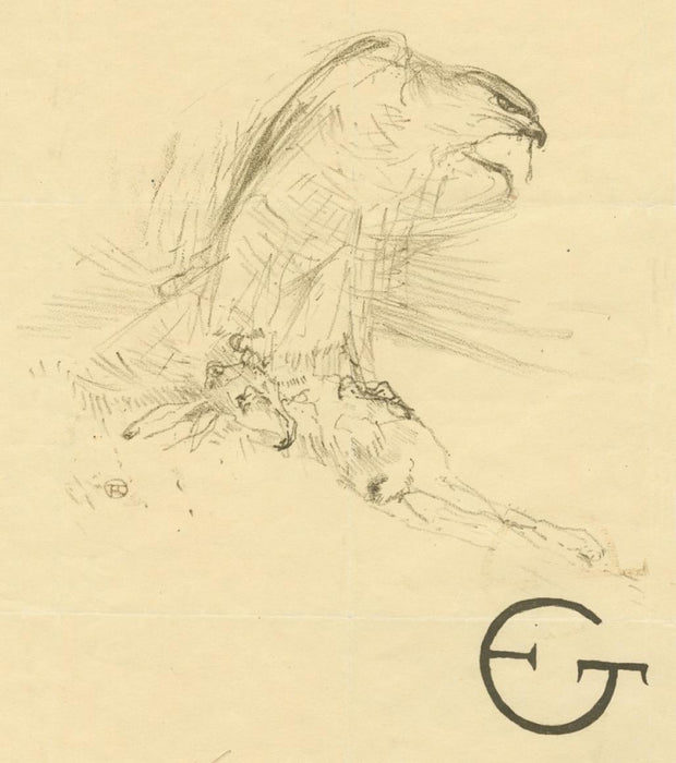 Lithograph - by TOULOUSE-LAUTREC, Henri de - titled: The Sparrowhawk