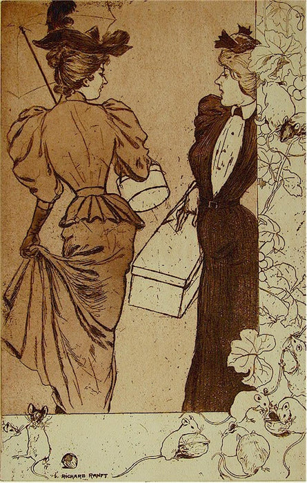 Etching - by RANFT, Richard - titled: Trottins