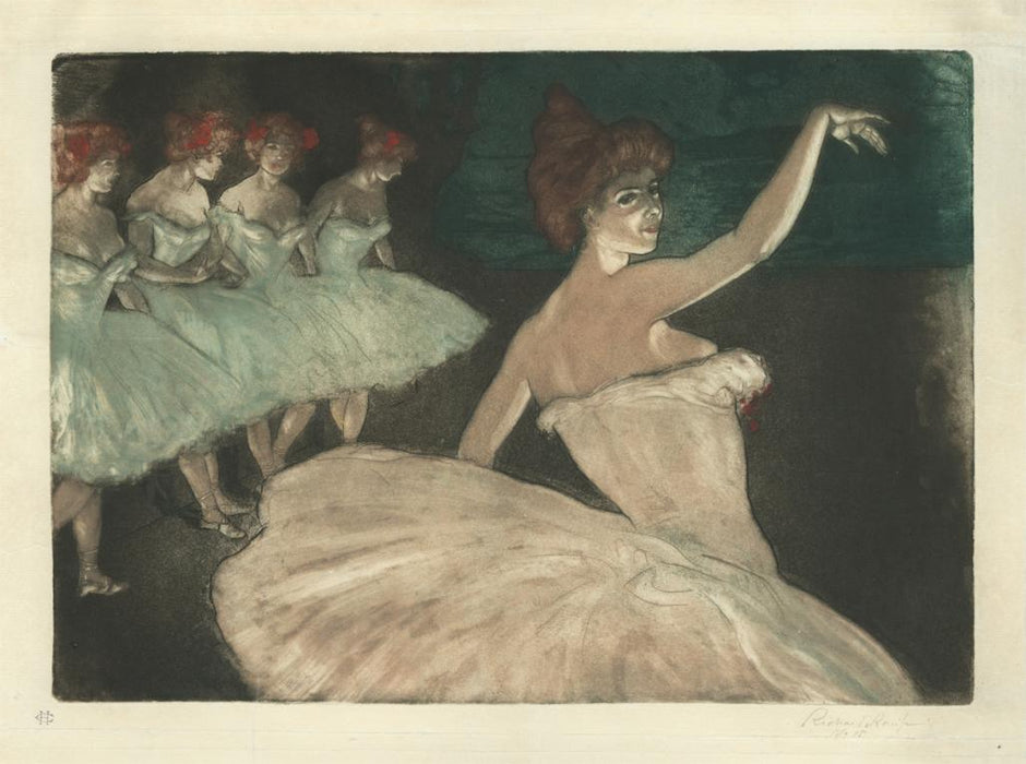 Color aquatint and etching - by RANFT, Richard - titled: Prima Ballerina