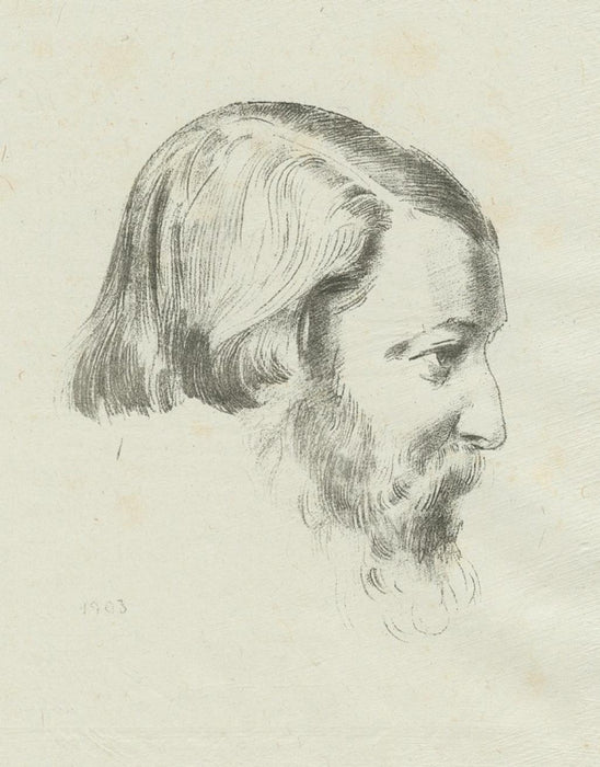 Lithograph - by REDON, Odilon - titled: Paul Sérusier