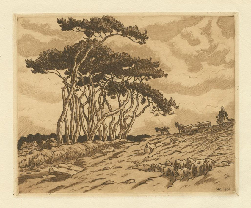 Henri Riviere - Pine Trees at Landemendy - main