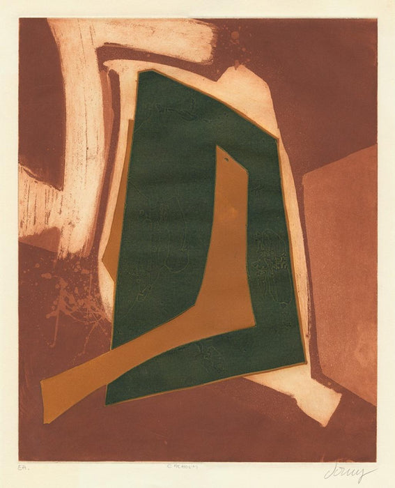 Color aquatint - by DORNY, Bertrand - titled: Cachoum