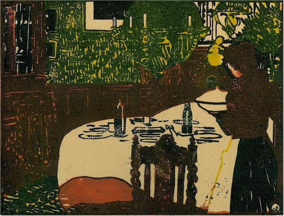 Woodcut - by LABOUREUR, Jean-Emile - titled: The Soup