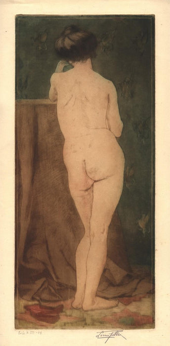 Louis Mcclellan potter - Nude with the Pegasus Wallpaper - main