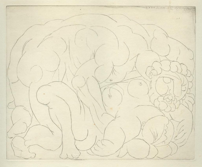 Drypoint - by PICASSO, Pablo - titled: The Assault