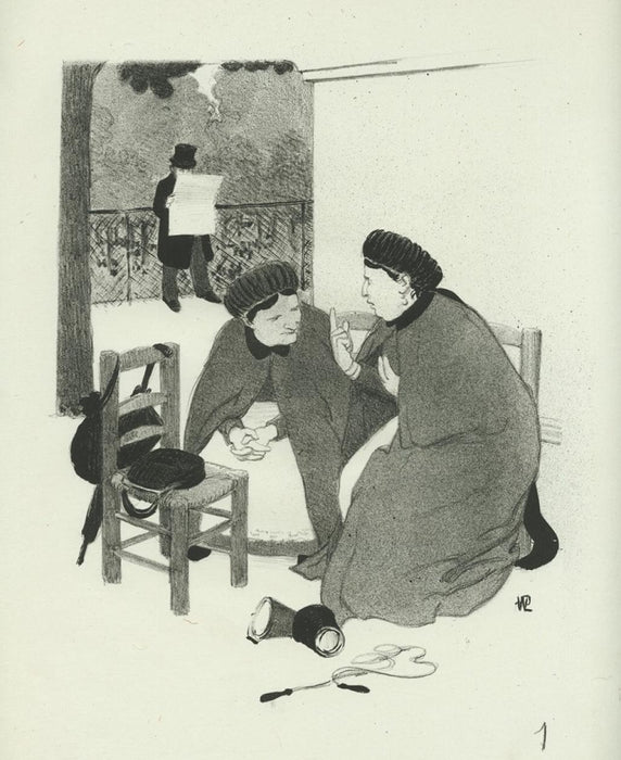 Lithograph - by HERMANN-PAUL, Rene G. - titled: La Vie de Madame Quelconque