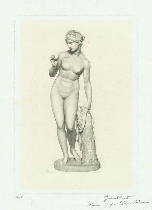 Engraving - by GAILLARD, Claude Ferdinand - titled: Venus after Thordwaldsen