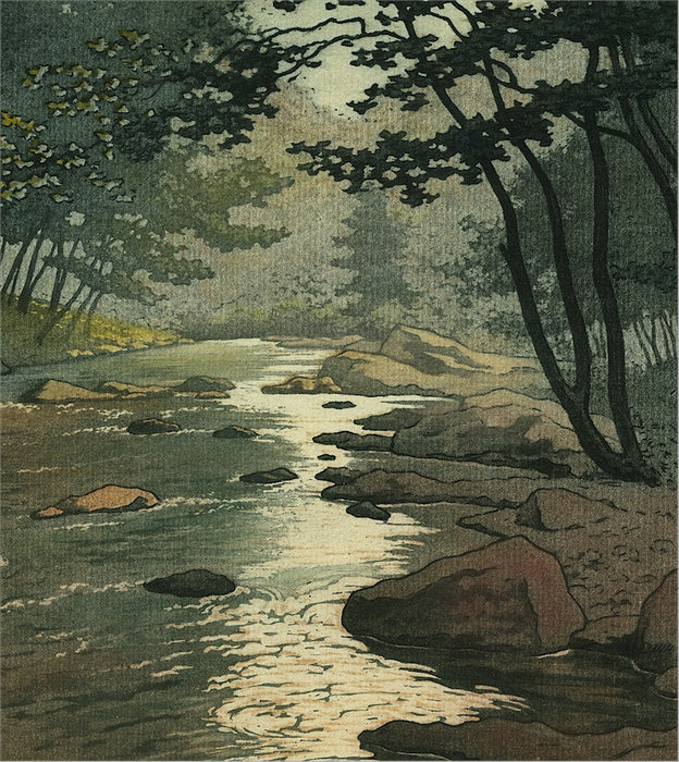 - by MEUNIER, Henri - titled: Shaded River