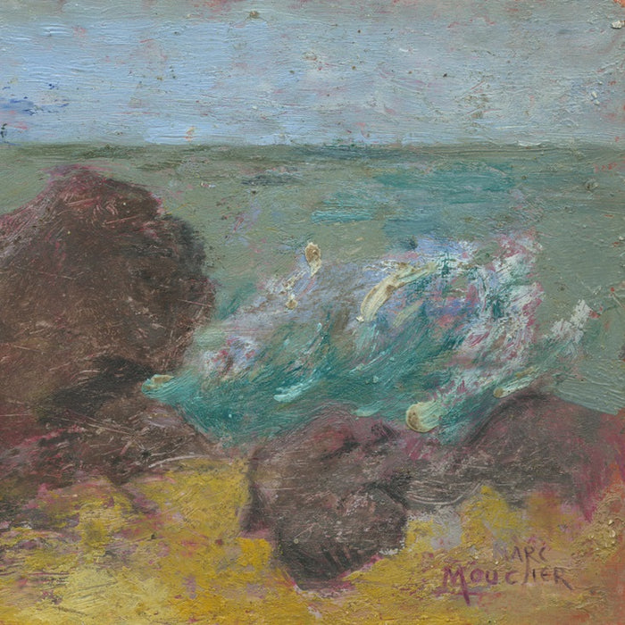 Oil on paper - by MOUCLIER, Marc - titled: Rocs by the Sea