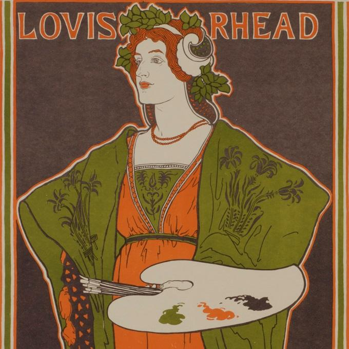 Lithographic poster - by RHEAD, Louis - titled: Salon of the 100