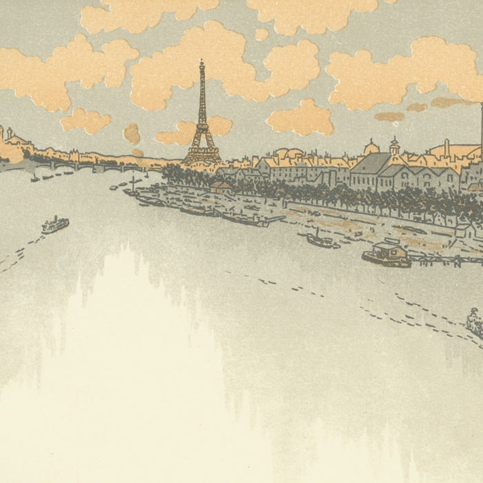 Color lithograph - by RIVIERE, Henri - titled: From the Point-du-Jour