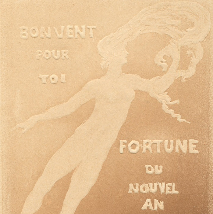 Gypsograph - by ROCHE, Pierre - titled: Fair Winds to You, Fortune of the New Year 1911