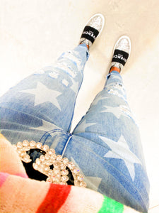 star denim distressed jeans
