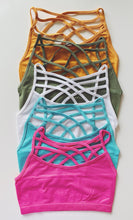 Strappy bralettes - multiple colors