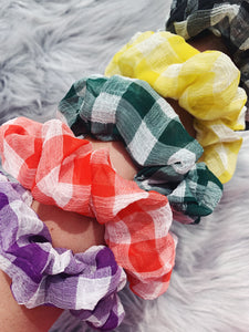 Scrunchies - Plaid