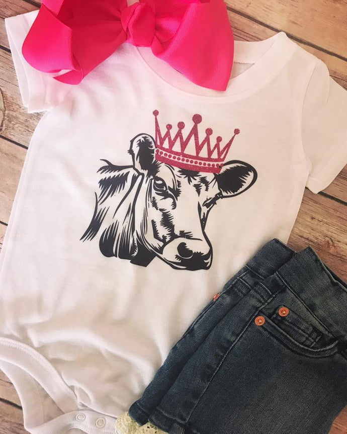Crowned Cow - Onesie