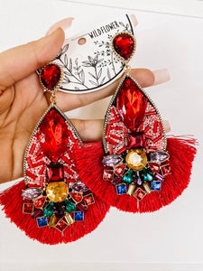 Bling earrings - multiple colors
