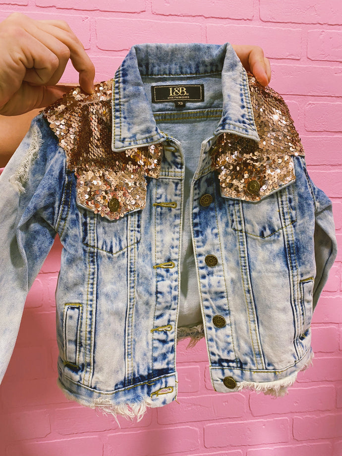 rose gold sequin jacket