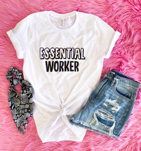 essential worker tee