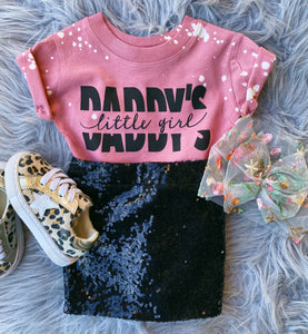 daddy's little girl tee - mauve