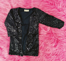 sequin duster - black
