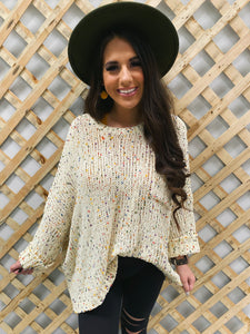 confetti cream sweater