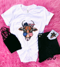 patriotic cow tee - adult
