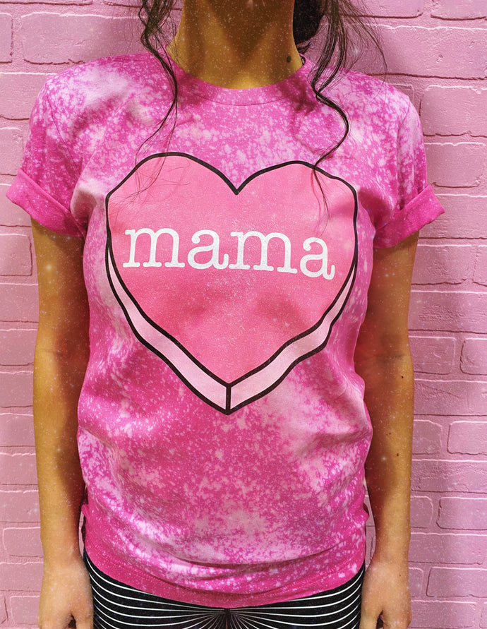 MAMA candy heart tee - adult
