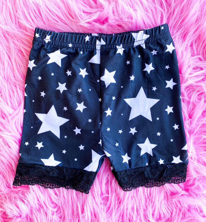 star lace biker shorts